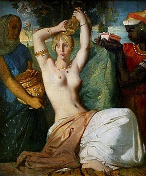 Théodore Chassériau - The Toilette of Esther, 1841, oil on canvas, 45.5 x 35.5 cm, Paris, Louvre