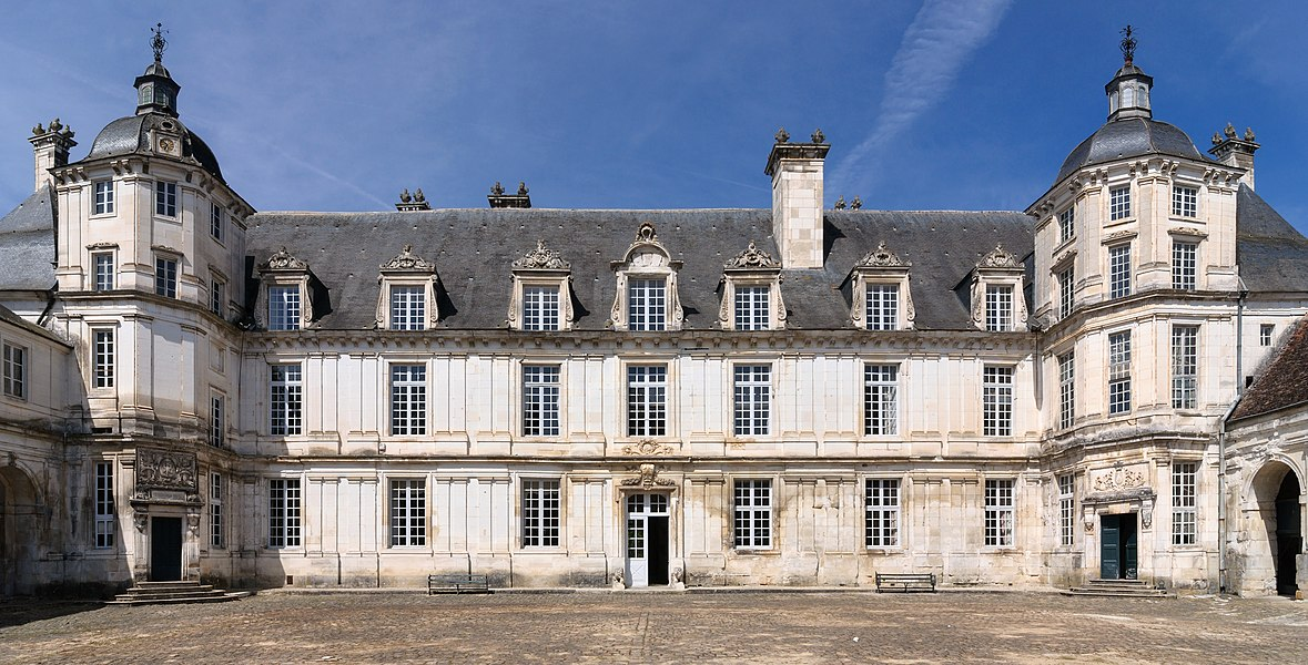 Château de Tanlay, Yonne department, Burgundy, France: the facade of the big castle seen from the courtyard