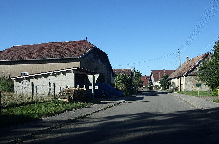 Vue de Chaux-les-Passavant (Doubs).