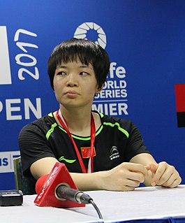 Chen Qingchen Badminton player