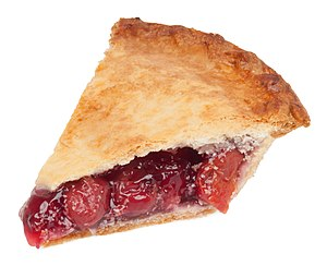 English: A slice of Table Talk brand cherry pi...