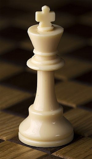 Chess piece - White king, Staunton design