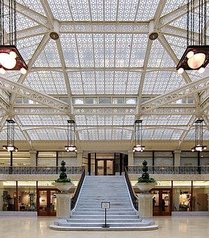 Rookery Building - The Rookery's light court serves as a focal point for the entire building