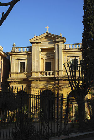 the Church of Santa Bibiana, Rome, Italy. Facade.