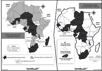 "Africa–China relations - China's permanent seat in the UN in Africa and the diplomatic game of ""two Chinas"" in Africa"