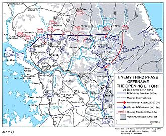 Third Battle of Seoul - Image: Chinese Third Phase Campaign map