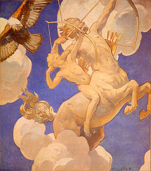 Chiron - Chiron and Achilles by John Singer Sargent (circa 1922-1925)