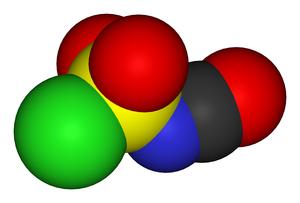 Chlorosulfonyl isocyanate - Image: Chlorosulfonyl isocyanate 3D vd W