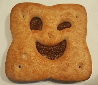 BN Biscuit - A smiling chocolate-flavoured BN.