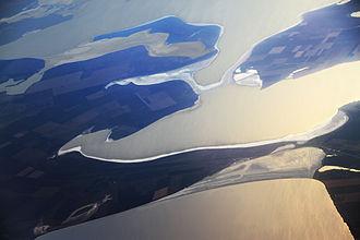Chonhar Peninsula - Image: Chohgar peninsula. View from altitude 12000 m
