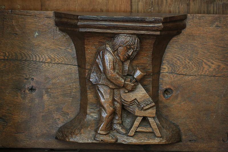Miséricorde sur le travail dans l'église d'Oude Kerk à Amsterdam - Photo de Hans A. Rosbach