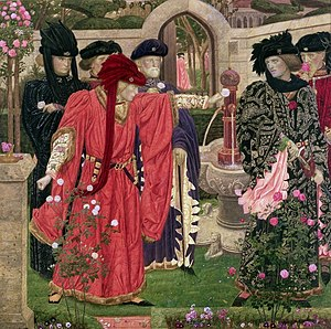 House of Lancaster - Symbolic representation of the Wars of the Roses in art