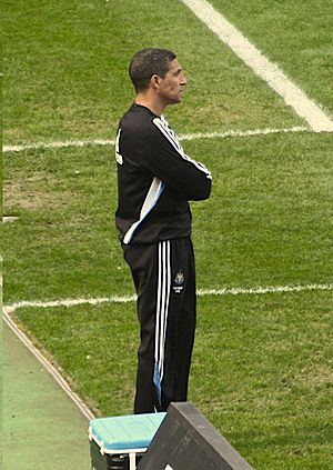 Chris Hughton - Hughton managing Newcastle United in 2010.