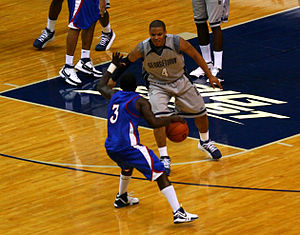 Chris Wright (basketball, born 1989) - Chris Wright of Georgetown guards against American University in 2007