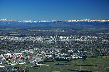 English: Christchurch City (New Zealand) from ...