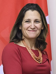 Chrystia Freeland in Ukraine in December 2017