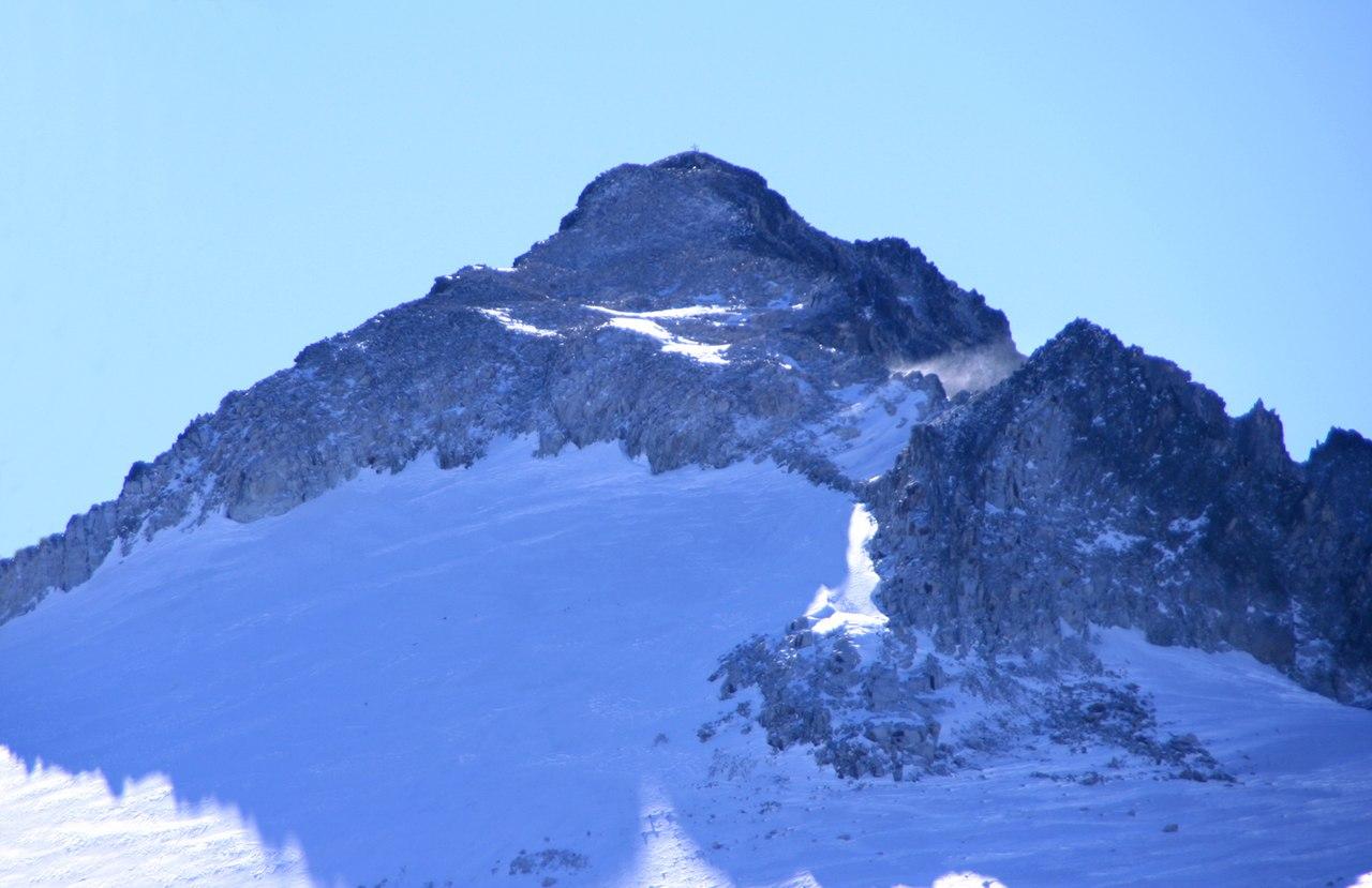 La cime de l'Aneto vue depuis le glacier de l'Aneto