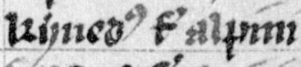 "The name of Eochaid's maternal grandfather, Cinaed mac Ailpin, as it appears on folio 30v of Lat. 4126: ""Kynedus filius Alpini