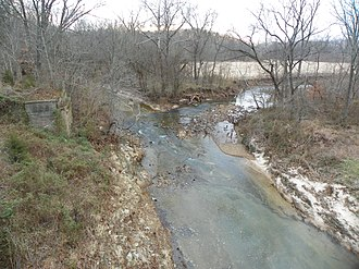 Cinque Hommes Creek - Image: Cinque Hommes Creek, Missouri, Hwy 61 north
