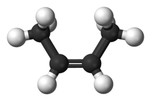 2-Butene - Image: Cis but 2 ene 3D balls