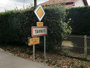 City limit sign of Tarnos.JPG