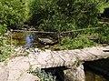 Clapper bridge over Luckington Brook - geograph.org.uk - 488857.jpg