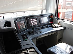 South African Class 22E - Driver's station of no. 22-013