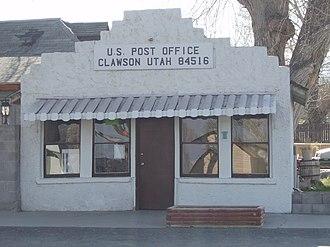 Clawson, Utah - Clawson's post office