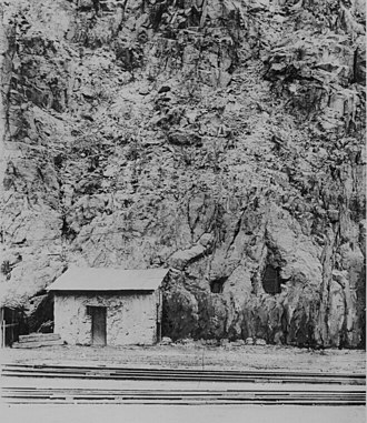 Clifton, Arizona - Image: Clifton Cliff Jail Clifton Arizona Circa 1900