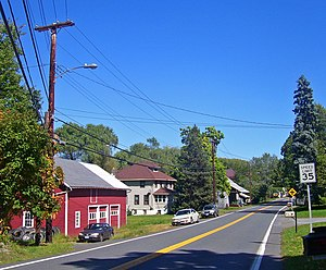 Clintondale, New York - Clintondale looking east along Routes 44/55, 2007