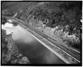 Close-up view of the cut - Erie Railway, Corning Side Hill Cut, Chemung River, Corning, Steuben County, NY HAER NY,51-CORN.V,1-2.tif