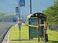 Closed bus shelter on SR-265, Provo, Utah Aug 16.jpg