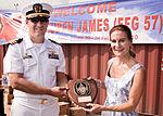 Cmdr. David Miller and Kirsty Sword Gusmão on the USS Reuben James.jpg