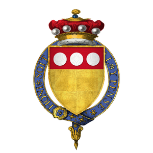Thomas de Camoys, 1st Baron Camoys - Arms of Sir Thomas de Camoys, 1st Baron Camoys, KG: Or, on a chief gules three plates''