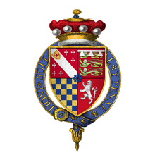 Coat of arms of Sir William Howard, 1st Baron Howard of Effingham, KG.png