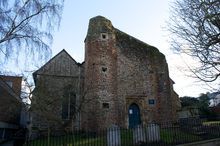 Photograph of the west side of St Martin's church