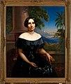 Collectie NMvWereldculturen, TM-2032-4, Olieverfschildering, 'Elisabeth Antoinette, Baronesse de Kock, geboren Verster, echtgenote van A.H.W. Baron de Kock, door Raden Saleh', Raden Saleh, 1856.jpg