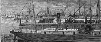 Port Richmond, Philadelphia - Colliers at Port Richmond circa 1875