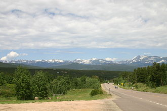 Colorado State Highway 119 - Front Range mountains as seen from northbound State Highway 119, between Blackhawk and Rollinsville