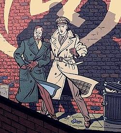 Comic wall Blake & Mortimer 2. Edgar P. Jacobs. Brussels.jpg