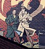 Comic wall Blake & Mortimer 2. Edgar P. Jacobs. Brussels.jpg