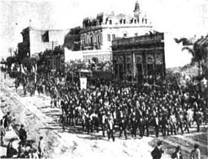 Plaza Italia, Buenos Aires - Cornerstone ceremony for the monument in 1898.