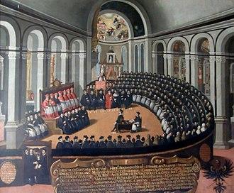 Congregazione generale del Concilio nella chiesa di S. Maria Maggiore.