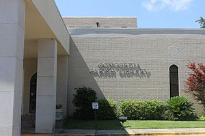 Concordia Parish, Louisiana - The Concordia Parish Library is located in Vidalia behind the parish courthouse.