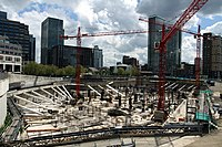 Construction of Riverside South (Canary Wharf) in London, spring 2013 (7).JPG