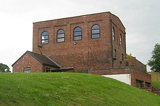Somerset Coalfield - The Pensford Colliery winding house after conversion.