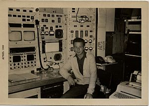 Cooby Creek Tracking Station - David Ronald Gilson working at Cooby Creek