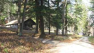 National Register of Historic Places listings in Forest County, Pennsylvania - Image: Cook Forest State Park River Cabin District