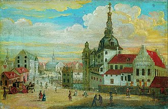 Copenhagen Castle - Copenhagen Castle painted in 1698 by unknown artist