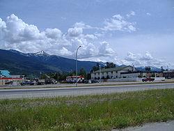 Valemount as seen from Highway 5